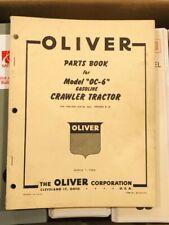 Original 1954 Oliver Oc 6 Gasoline Crawler Tractor Parts Book