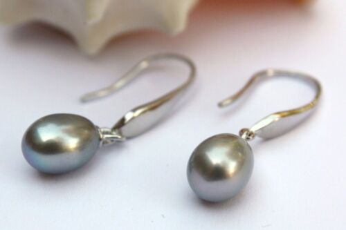 YR02G Zucht Süßwasser Perle Schmuck Ohrringe Ohrstecker Ohrhänger 925 Silber neu