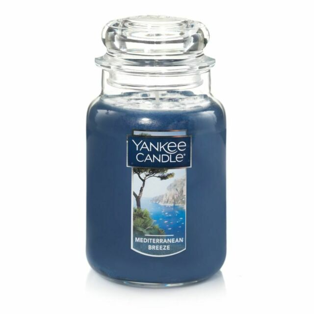 Yankee Candle Mediterranean Breeze Blue Large Glass Mother's Day + Gift Box