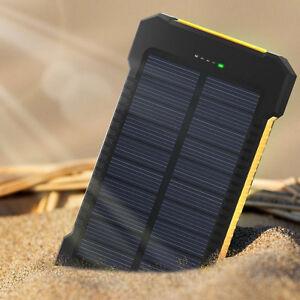 2usb 50000mah solar power bank led zusatzakku batterie. Black Bedroom Furniture Sets. Home Design Ideas