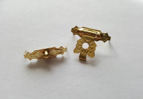 Gold Locker Hasp Lock Latch Craft Wooden Box Chest DIY NO Screw and Nail