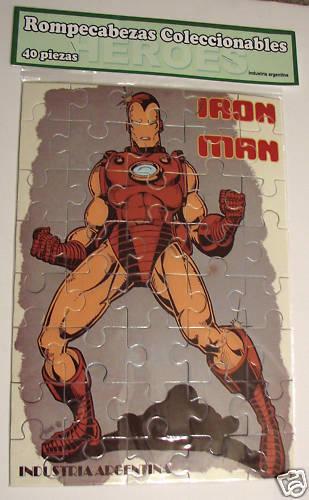 Iron - man - puzzle Silberinien selten vintge marvel mip