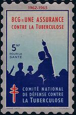 FRANCE-GRANDE VIGNETTE 1962- 5 N F. TUBERCULOSE. ANTITUBERCULEUX.