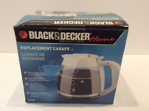 Black-amp-Decker-GC2000-Replacement-Carafe-Coffee-Pot-White-12-Cup-Never-Used