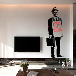 Banksy wandtattoo wandaufkleber wandsticker decal sticker aufkleber verk ufer ebay - Wandtattoo banksy ...