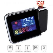 ds Sveglia Igrometro Digitale Laser Orologio Temperatura Umidita' Allarme Linq