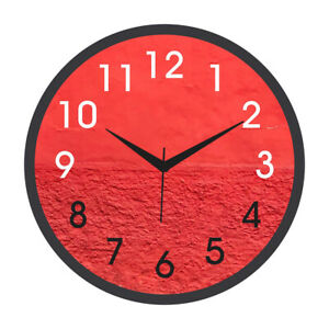 Clocks Large Decorative For Kitchen Home Office Wall Decor Red Wall Design Ebay