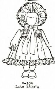 #2118 Gibson Girl Frock 1:12 scale Emanjay Dollhouse Doll Clothes Pattern