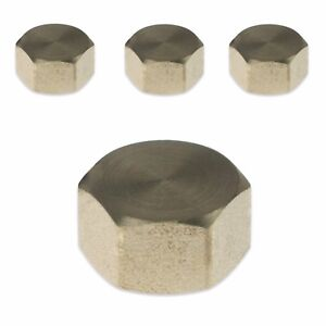 """Paquete De 4 X 3/8"""" BSP Gorra de supresión de Latón & Sello De Fibra tubería de agua máquina de lavado  </span>"""