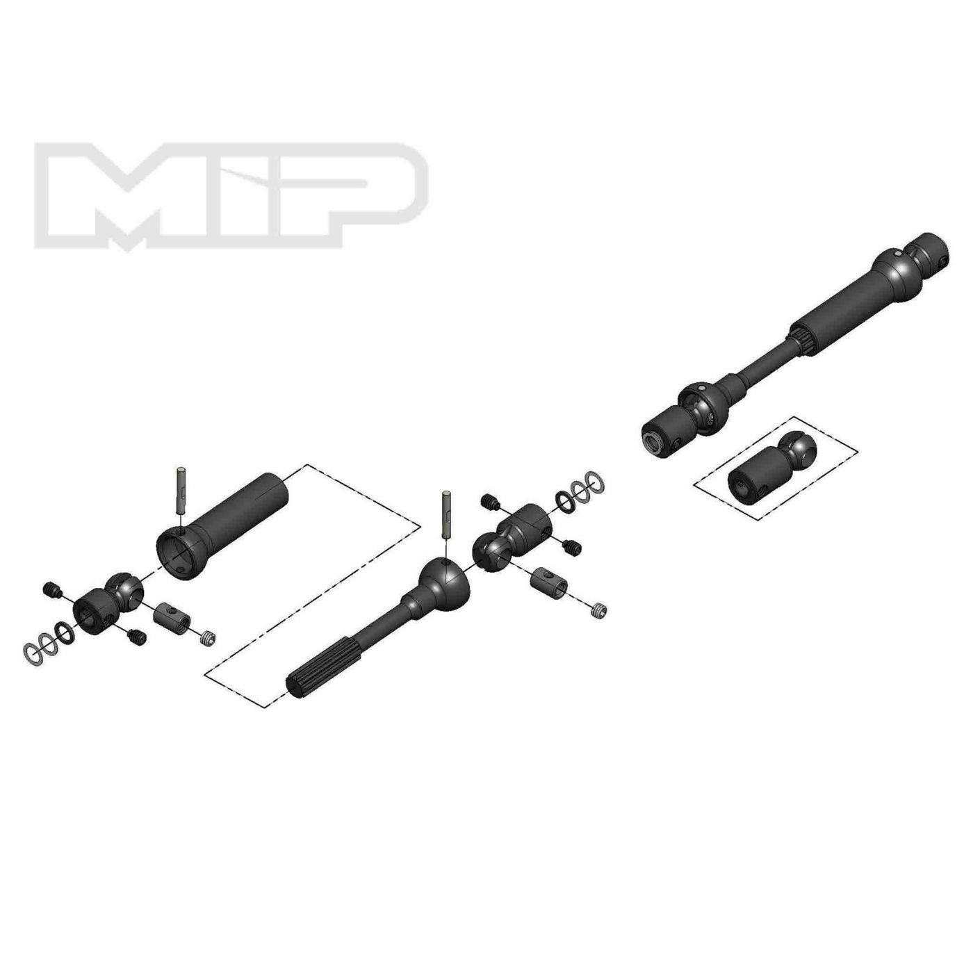 MIP Center Drive Kit 115mm - 140mm with 5mm Hubs - MIP18160
