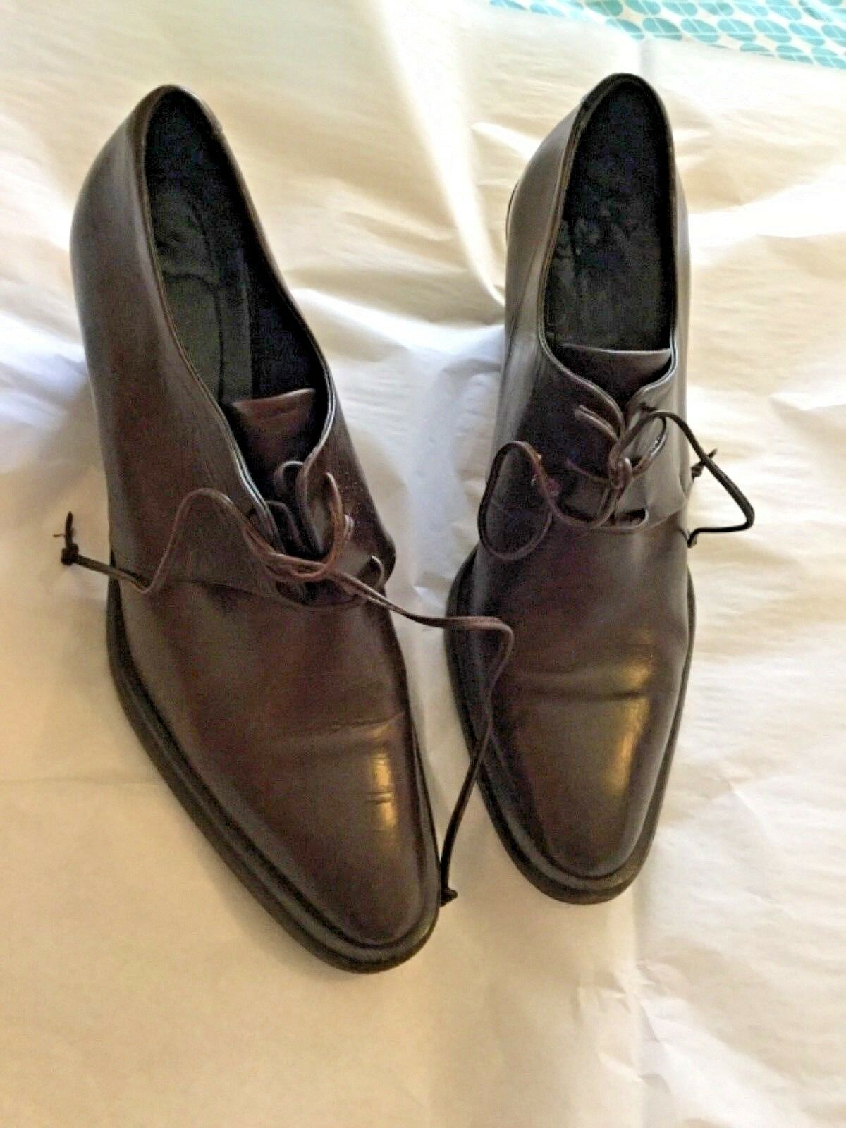 EXCELLENT CONDITION Joan & & & David braun Leather Lace-up Oxfords - 7.5M d7cc36