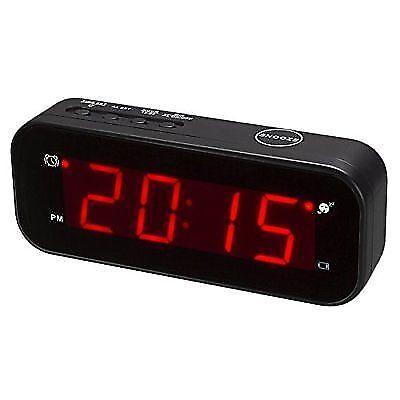 kwanwa cordless led digital alarm clock battery powered. Black Bedroom Furniture Sets. Home Design Ideas