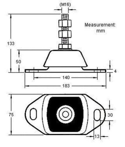 Flessibile Supporto Motore per Mercruiser Omc Volvo Penta