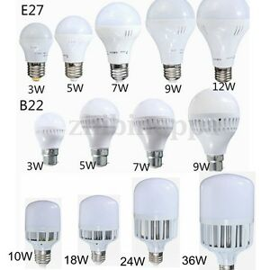 9W-12W-15W-20W-25W-30W-36W-E27-B22-LED-Globe-Bulb-Light-SMD-Lamp-Cool-Warm-White