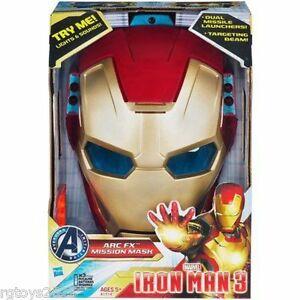Masque de mission Marx Iron Man 3 Arc Fx Nouveau W Lights & Sounds Lancement du missile Childs 653569816348