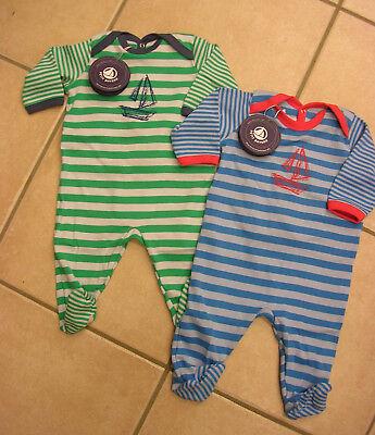 Dedito Tutine/overall/sonno Tuta Di Petit Bateau In Verde O Blu. Nuovo!!!-all/schlafanzug Von Petit Bateau In Grün Oder Blau. Neu!! It-it