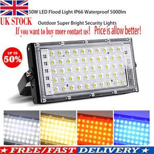 LED-Security-Floodlight-50W-Flood-Lights-Indoor-Outdoor-Garden-Waterproof-Lamp