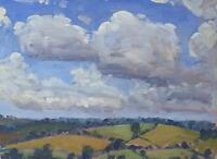 David Rylance Original Oil Painting Sketch - Countryside Landscape (Cornish Art)