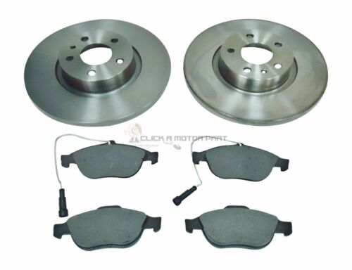 ALFA ROMEO 156 1.6 1.8 2000-2002 SOLID FRONT 2 BRAKE DISCS AND PADS SET NEW