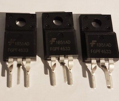 3PCS FGPF4633 TO-220 MOSFET TRANSISTOR BRAND NEW
