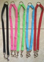 2 Way Dog Leash Coupler -pink,black,blue,green,red-13 & 15 Length -your Choice