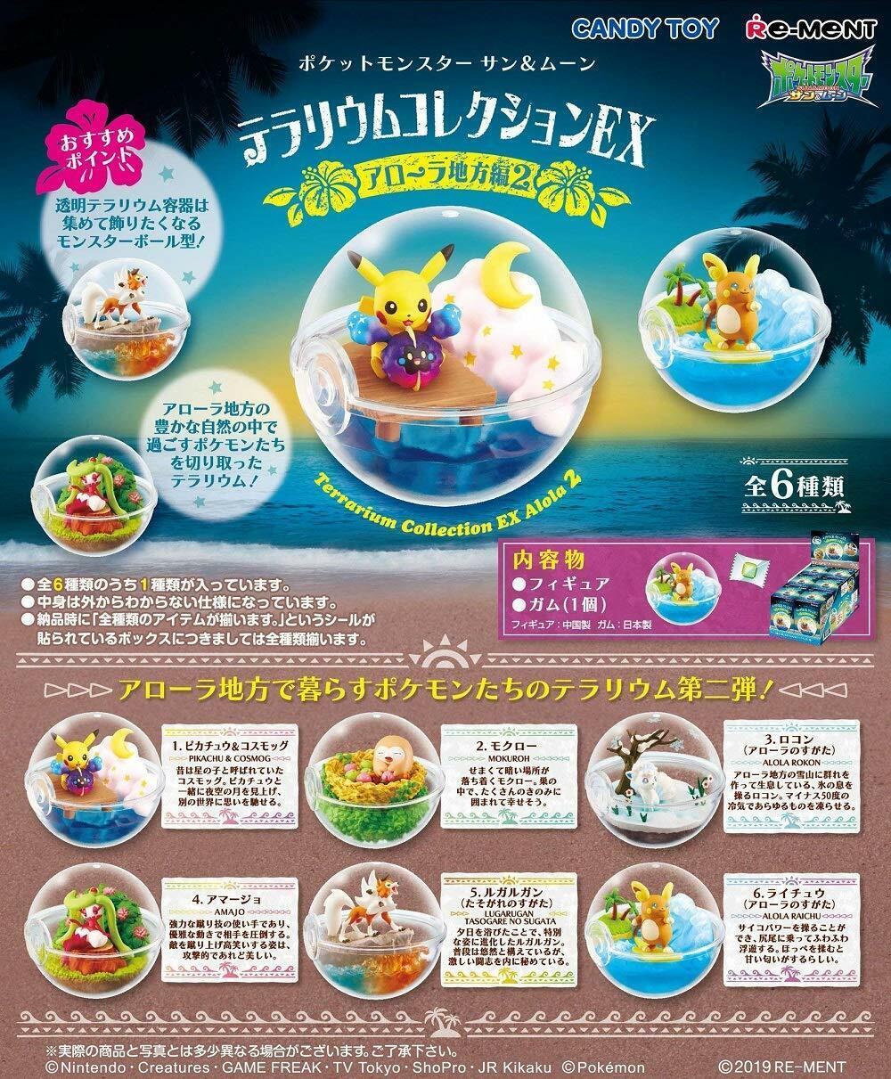 tienda de venta en línea Pokemon Pokemon Pokemon Terrario Colección Ex Alola Vol.2 los 6 Completo Juego Pokeball Japón  comprar marca