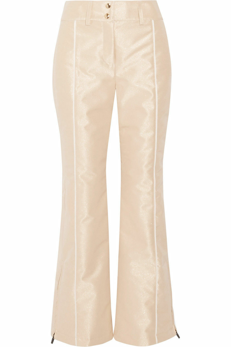 FENDI Gold STUNNING METALLIC SKI PANTS   TROUSERS NEW Größe 42   UK 10