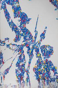 JonOne Liberté Egalité Fraternité Sérigraphie originale sur toile no Obey Fairey