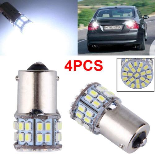 4PCS White 1156 50-SMD LED Tail Brake Stop Backup Reverse Light Bulb Car Truck