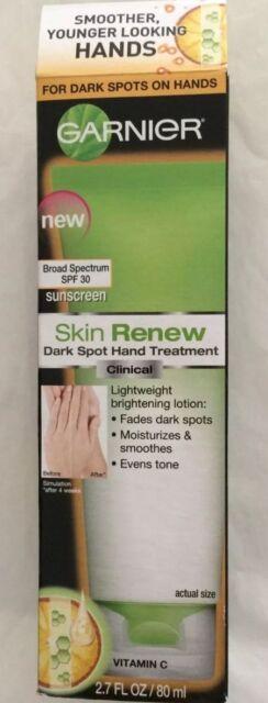 Garnier Skin Renew Dark Spot Hand Treatment CLINICAL 2.7 oz full size SPF 30