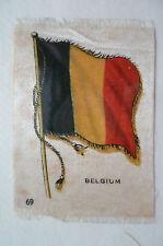 1930's B.D.V. CIGARETTES SILK FLAG, NO.69- BELGIUM SILK FLAG