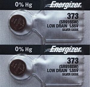 2Pcs-Energizer-373-SR916SW-Silver-Oxide-Watch-Batteries