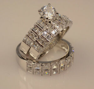 Wedding gt engagement wedding ring sets gt cz moissanite amp simulated