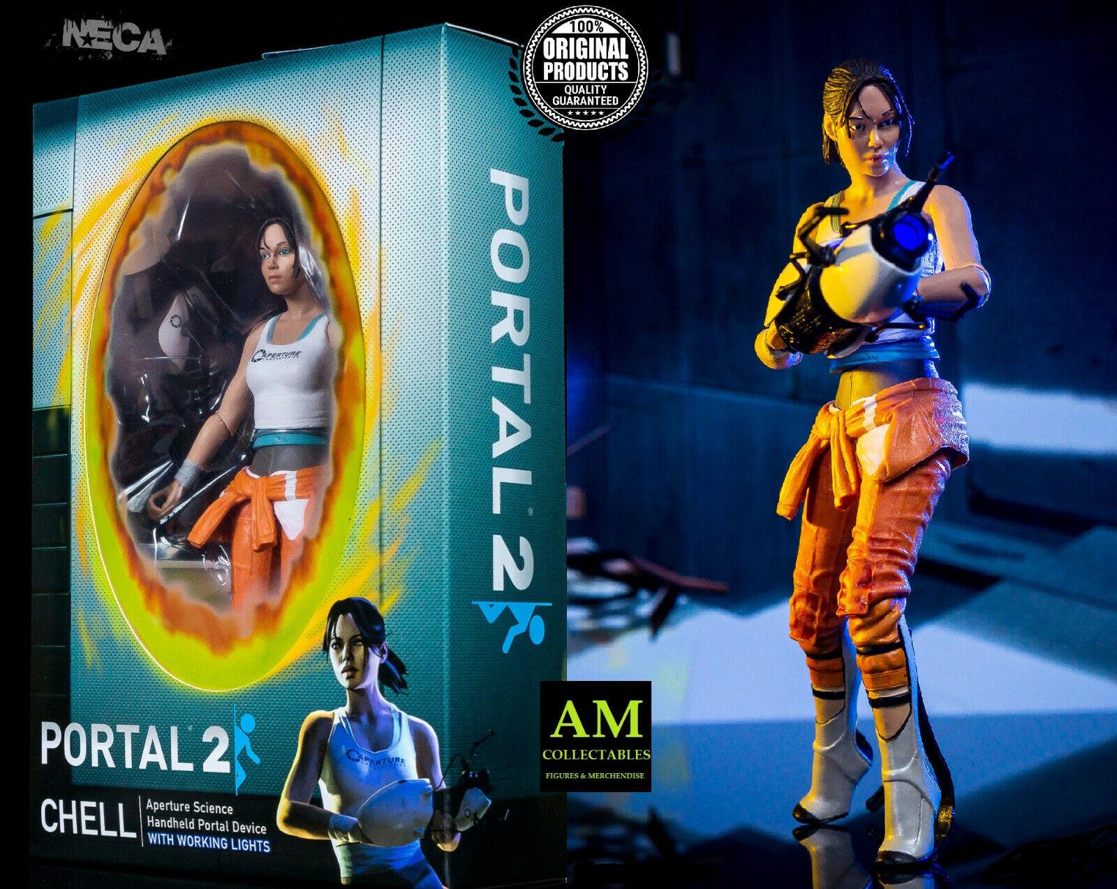 Neca - Portal 2-Cell - 7  Figura de Acción con Ashpd - Nuevo   Embalaje Original