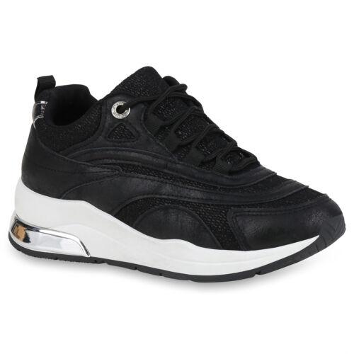 Damen Sportschuhe Laufschuhe Glitzer Turnschuhe Fitness Sneaker 824576 Trendy
