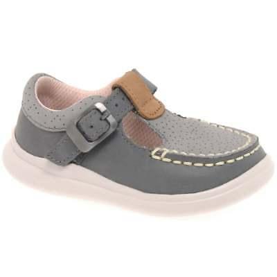 Clarks Cloud Rosa First Girls T Bar Buckle Shoes
