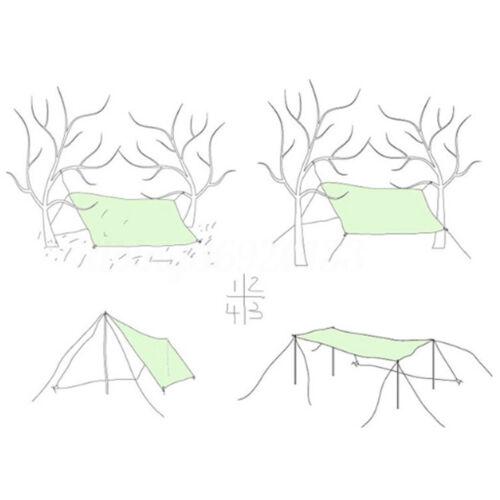 3M Sonnensegel Zeltplane Wasserdicht Regenschutz Zeltstangen Zeltseil Nägel Neu