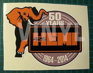 426-HEMI-50TH-ANNIVERSARY-VINYL-STICKER-DECAL-5-034-X-4-034-MOPAR-MUSCLE-CAR