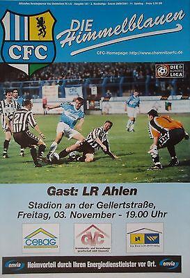 Stuttgarter Kickers Programm 2000//01 Chemnitzer FC