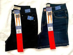 Dakota-Blue-Womens-Soft-Stretch-Casual-Fit-Mid-Rise-Shorts-Pick-Color-Size-NWT