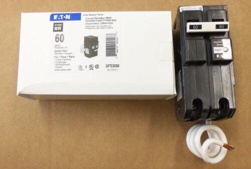 NEW EATON Cutler Hammer GFTCB 2 pole 60 amp GFTCB260 Circuit Breaker GFI GFCB