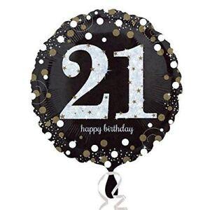 Black Gold Celebration 21st Birthday Foil Balloon Birthday Party