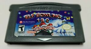 Elf Bowling 1 & 2 (Nintendo Game Boy Advance, 2005) AUTHENTIC GAME ONLY GBA