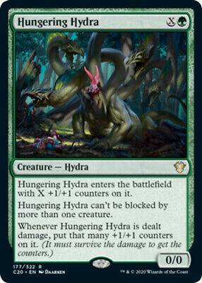 HUNGERING HYDRA X4 Commander 2020 Magic MTG MINT CARD