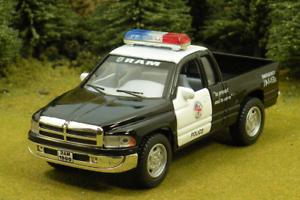 Black-Die-Cast-Dodge-Ram-Police-Pickup-by-Kinsmart-O-Scale-1-43-by-Kinsmart