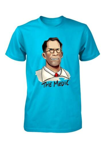 BNWT THE MEDIC TEUTONIC GUY COOL DUDE TEAM FORTRESS CHILD T SHIRT 3-15 YEARS