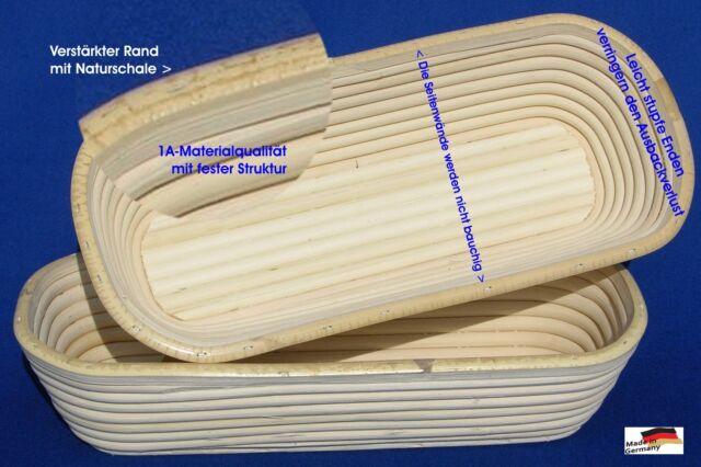 Gärkörbe Gärkorb Brotkorb Peddigrohrform Made in Germany oval 0,5-2kg Premium
