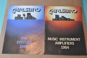 Carlsbro-vintage-catalog-booklet-brochure-1984-Very-Good