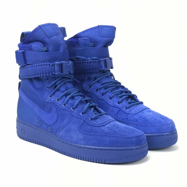 Nike SF Af1 Air Force 1 864024-401 Blue Suede Game Royal DS Size 9