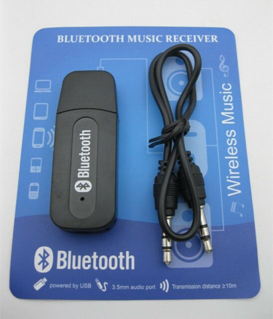 3.5mm USB Bluetooth Wireless Stereo Audio Music Receiver Adapter ...